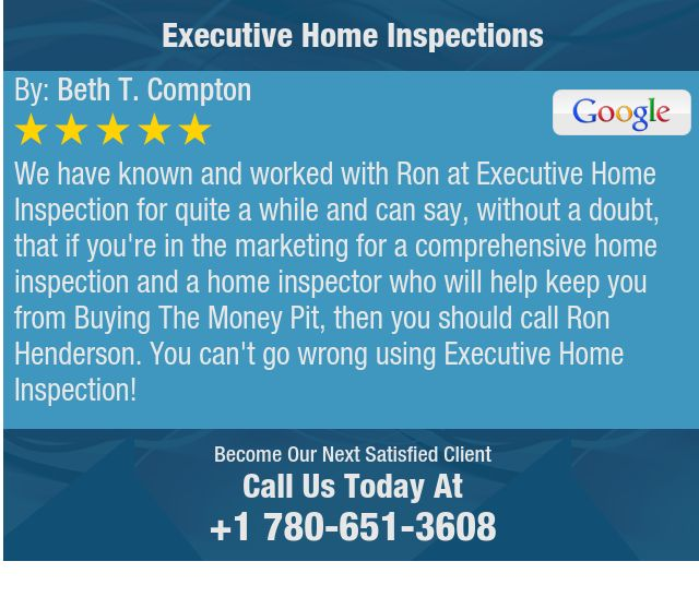 We have known and worked with Ron at Executive Home Inspection for quite a while and can...