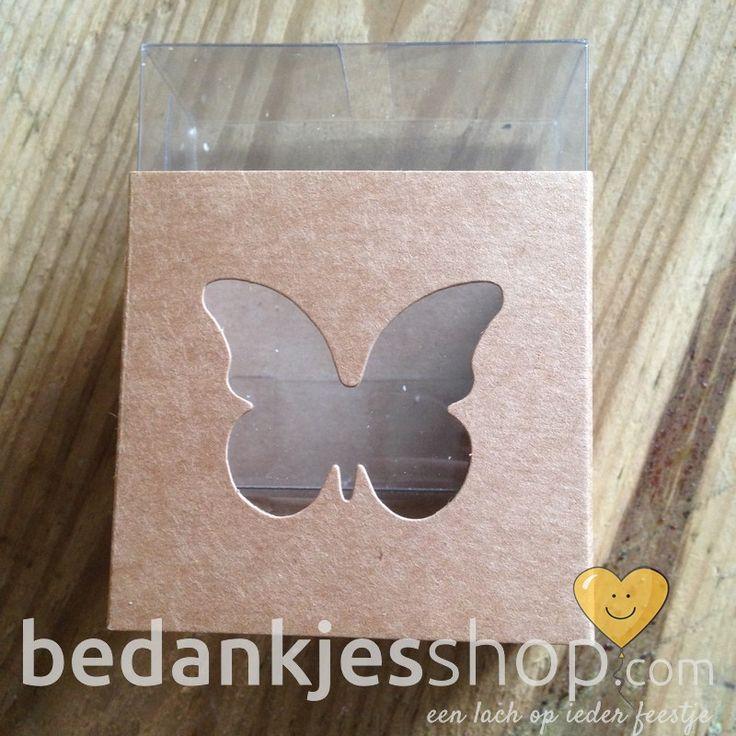 Plexi : Kraft doosje vlinder