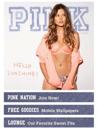 pink mobile website