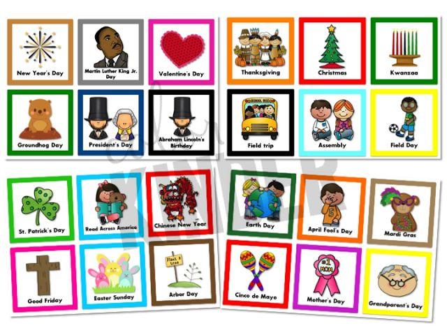 Kindergarten Holiday Calendar : Holiday and special days calendar cards kinderland