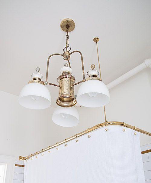 1000 images about vintage bathroom light fixtures on for Painting metal light fixture bathroom