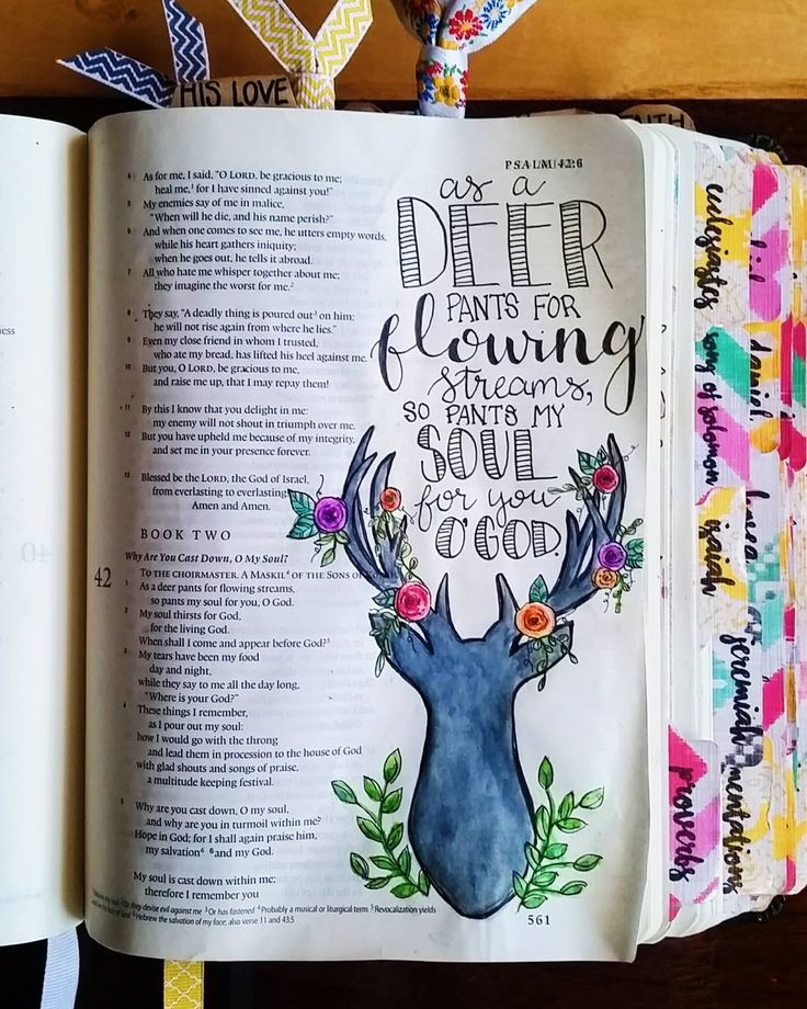 PSALM 42:1#biblejournaling #biblejournalingcommunity #illustratedfaith by bailey_sturgeon