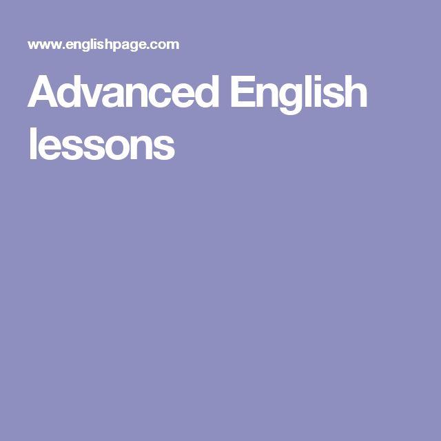 Advanced English lessons