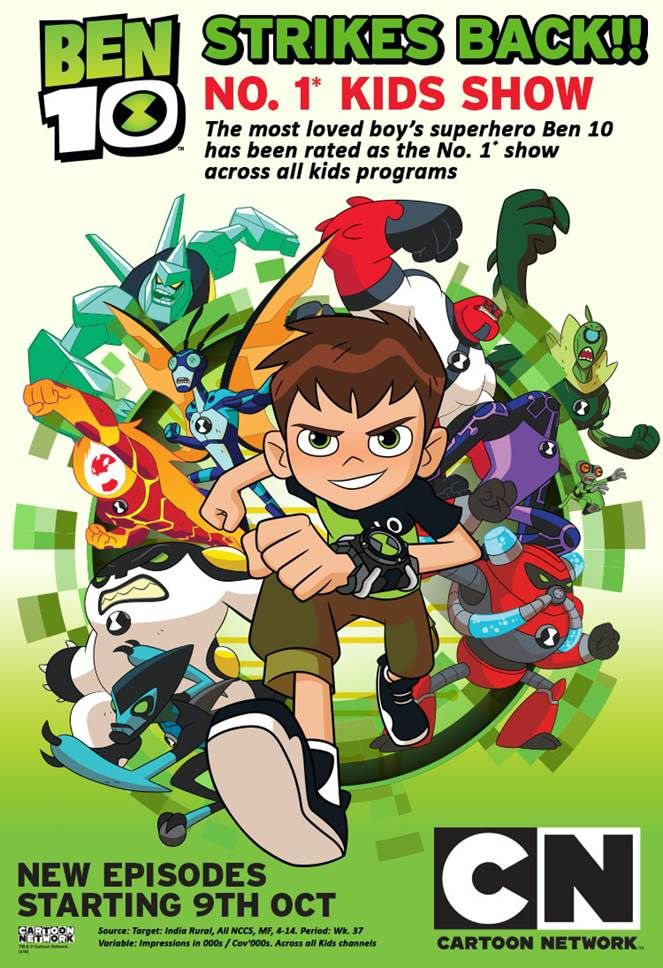 Latest update on Ben 10 Ratings, Fans are eagerly awaiting for the new episodes starting from 9th October