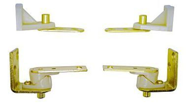 Brass  Gravity Swinging Door Hinges for Saloon or Cafe Doors