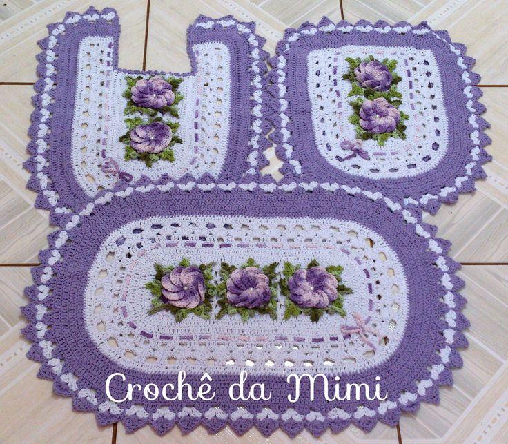 Jogo De Banheiro Azul Em Croche : Best images about banheiro em croche on