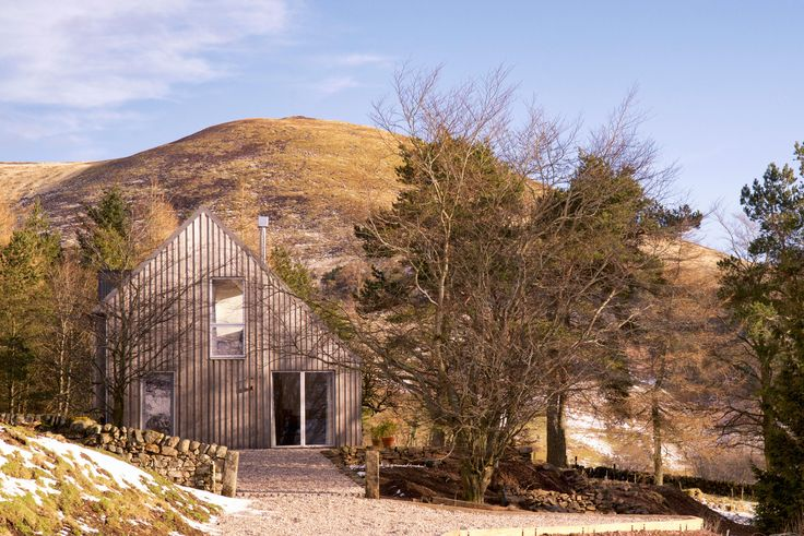 Holiday house in the hills Scotland | Architect designed holiday house in the Pentland Hills Regional Park near Edinburgh. Westside Woodshed build using CLT timber, clad in Kebony. Architect: Roxburgh McEwan  Modern Architecture Scotland, Nominated for a Saltire Architecture Award