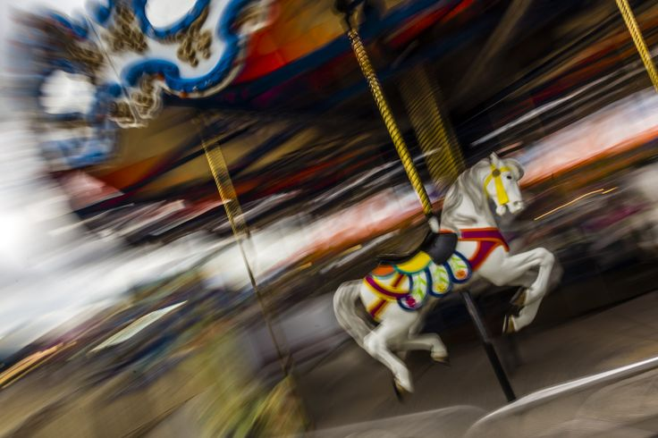 Lonely Horse on a merry go round at the Barrie fair.
