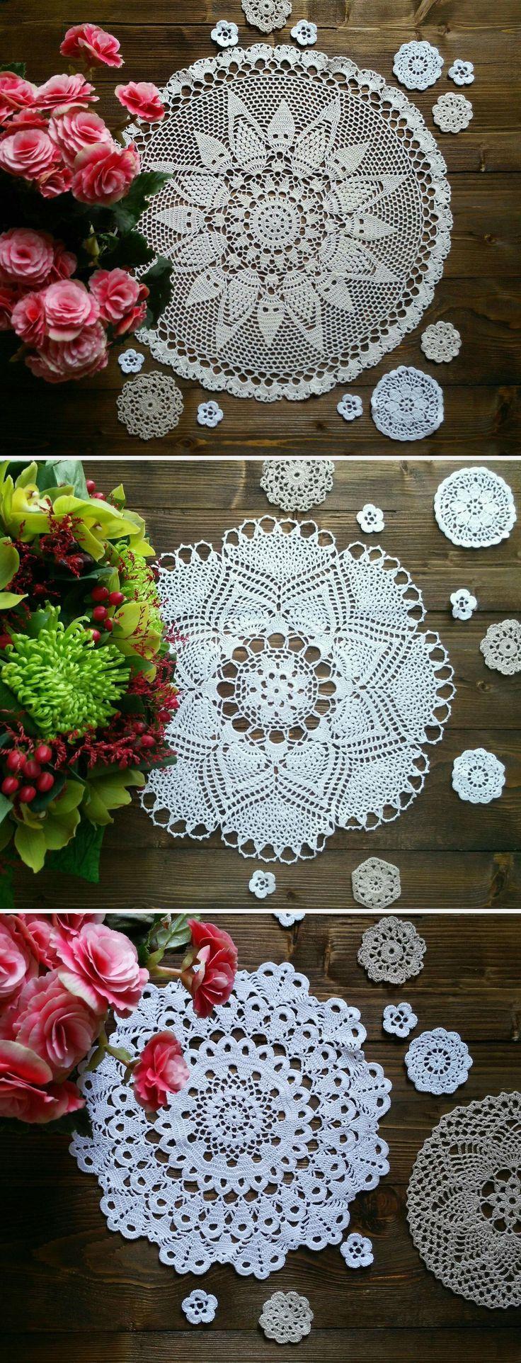 Crochet Napkins | Ажурные салфетки, связанные крючком