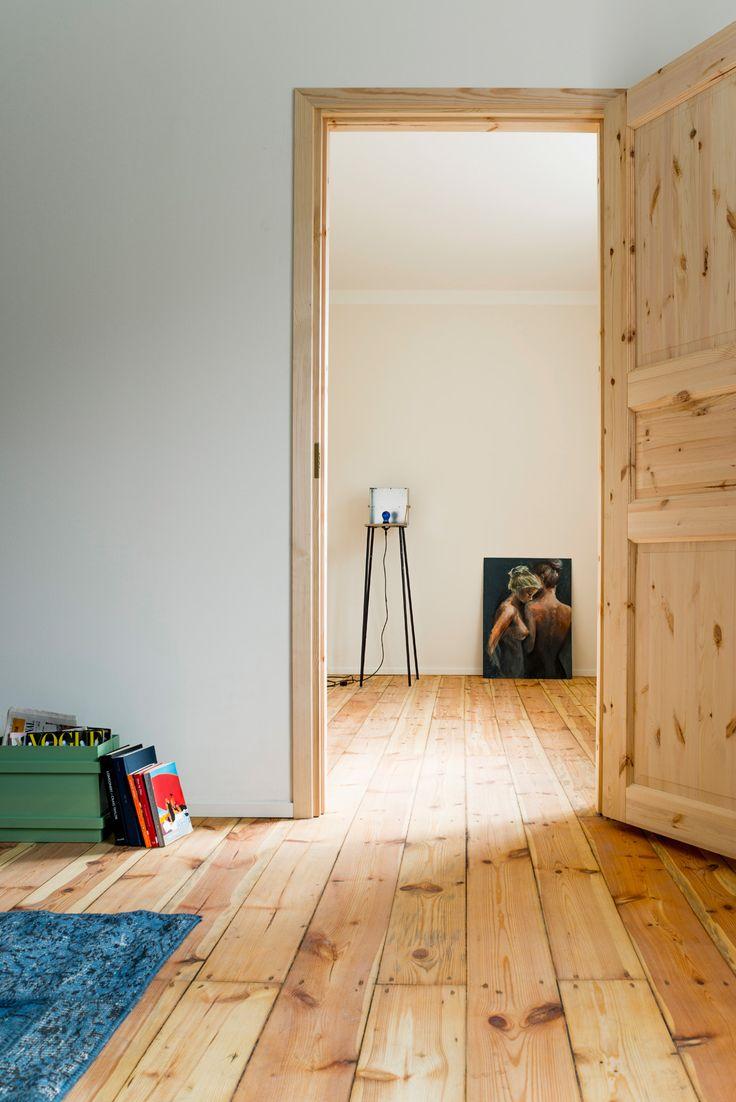 Designer apartment with original restored wooden floors by Larsen Kinnisvara at Pelgulinn in Tallinn, Estonia.