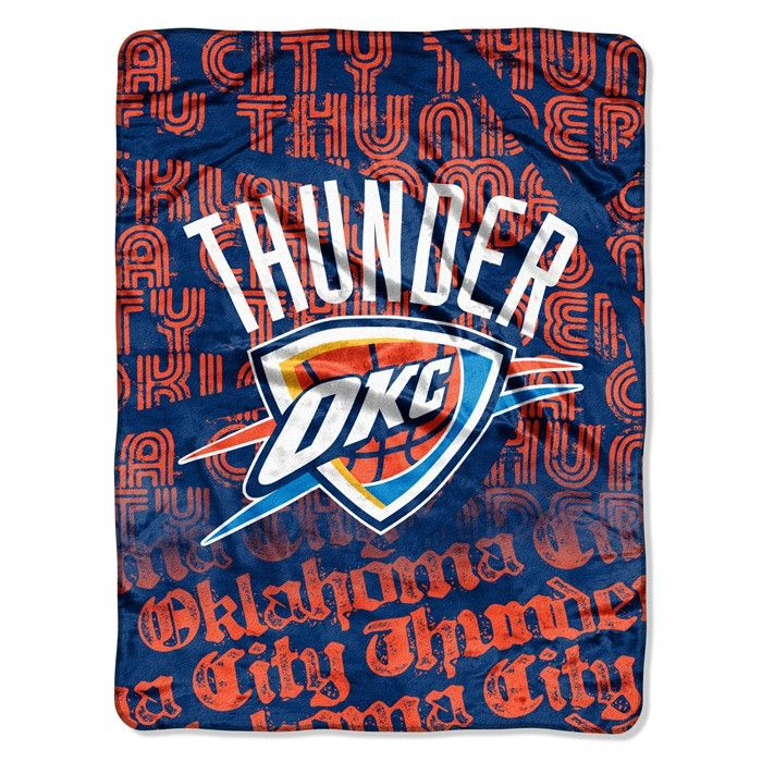 Oklahoma City Thunder NBA Redux Raschel Throw. Visit SportsFansPlus.com for Details.