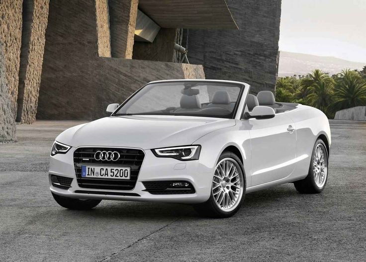 I drive a white 2012 Audi A5 Convertible