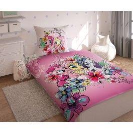 My Little Pony MLP27 - Lenjerie de pat din bumbac pentru copii 140x200