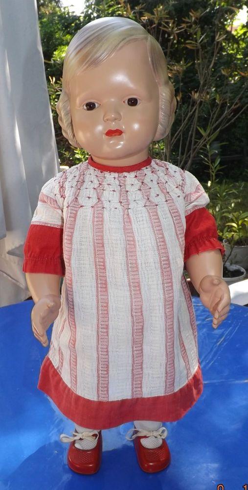 Steiff Wunderschöne Steiff Puppe mit Teddy 42 cm