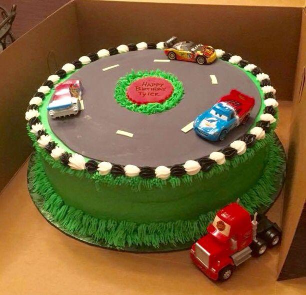 Car Race Track Cake My Cakes Pinterest Race Track
