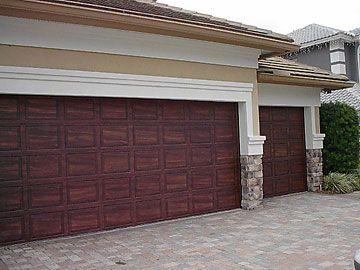 paint garage door to look like a wood garage door and add nice handles - Garage Door Paint Colors