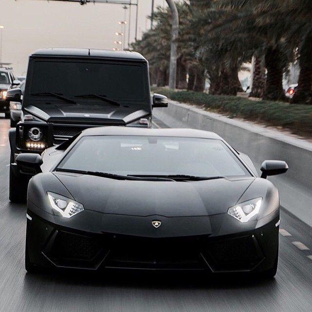 Lamborghini Aventador & Mercedes G his and hers cars. ⚫️ © @sultan_abdullah_a