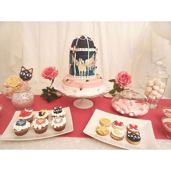 Sailor Moon birthday party ♥ sweets ♥ #sailormoon