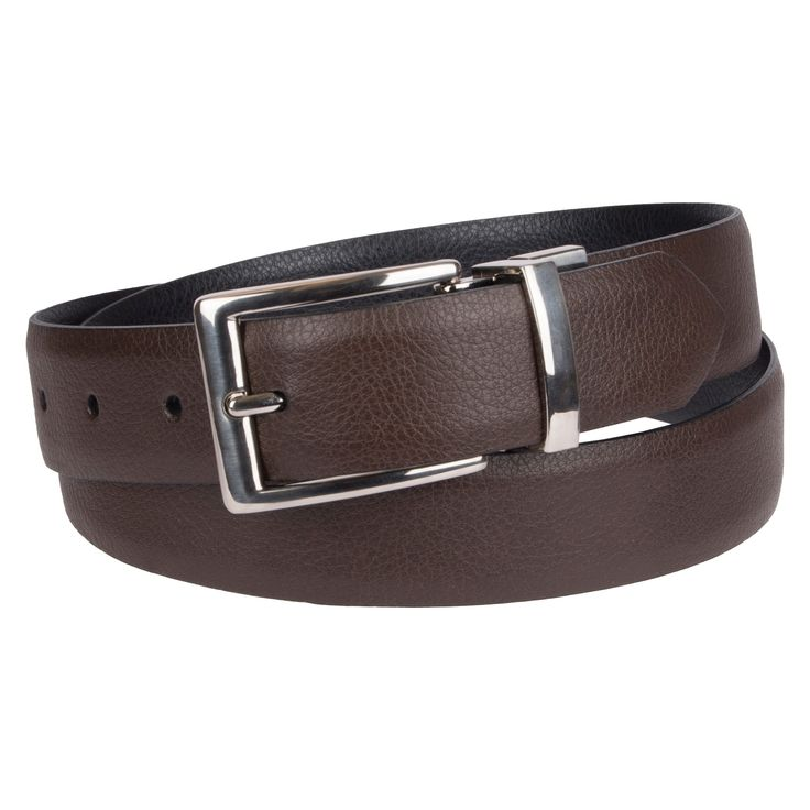 Men's 35mm Textured Reversible Belt - Goodfellow & Co Brown/Black XL, Size: XL (40-44)