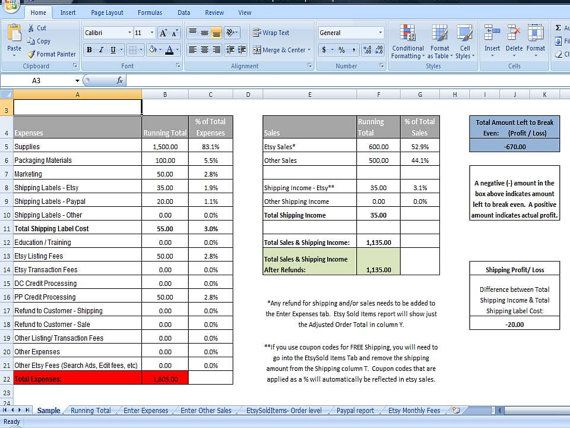 business sales tracker  u0026 expense tracker  editable