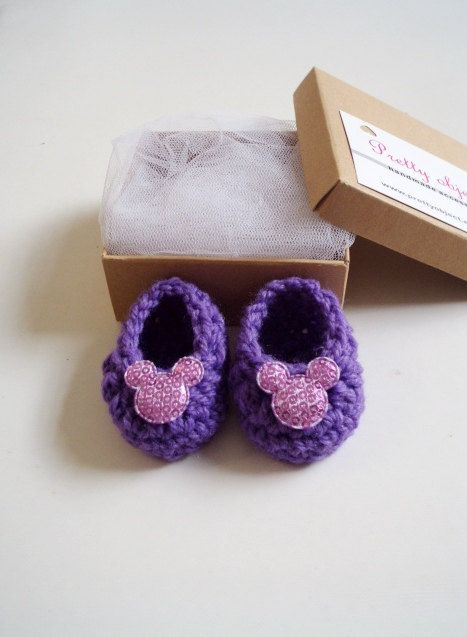 Newborn baby booties shoes crochet pregnancy by prettyobject