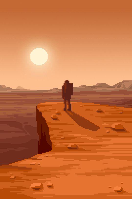 PixelArtus - The Power of Pixel Art • Man on Mars II Pixel Artist: Mazeon Source:...