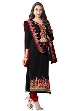 Karisma Kapoor Black Straight Suit