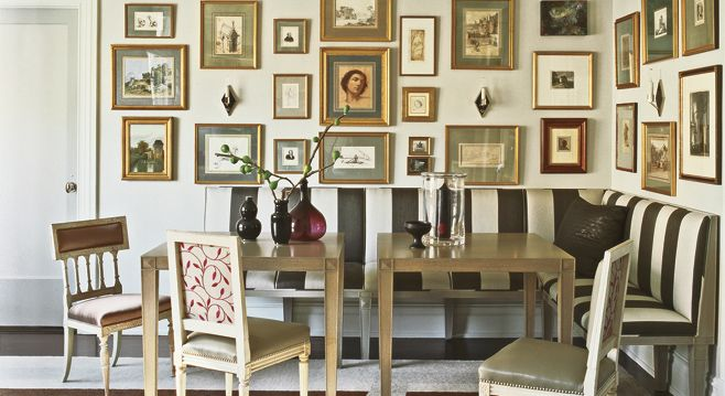 A Designer's Family Style  	Businessman turned decorator  Philip Gorrivan brings his  signature swank to his family's  Manhattan apartment, creating a place as glamorous as it is livable .... cluster like objects that show who you are