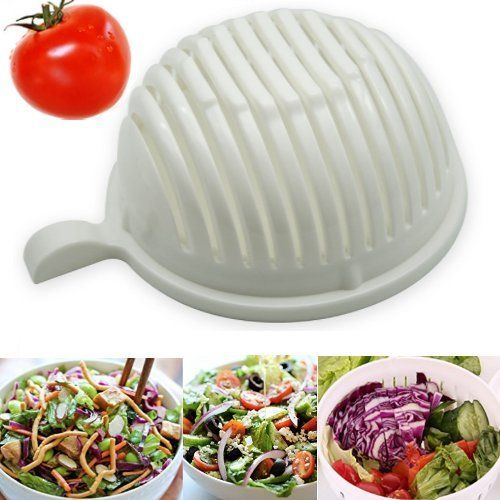 Minghuge - Speedy Salad Maker Salad Cutting Bowl Cutter Slicer, Make a Health Meal in 60 Secs Easy Rinsing Minimum Maintenance - Cool Kitchen Gifts
