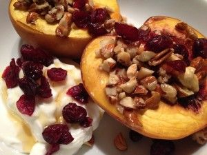 Peaches are in season - here is a perfect healthy dessert - Baked Peaches! (paleo, primal, gluten-free, grain-free dessert)