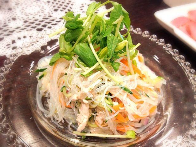 ナンプラー꒰๑꒪ɷ꒪꒱ - 18件のもぐもぐ - タイ風春雨サラダ by makipooh