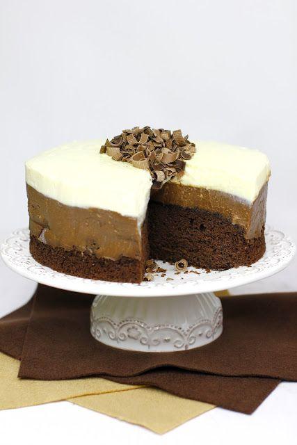 Tort Truflowy z Białą i Ciemną Czekoladą Just My Delicious