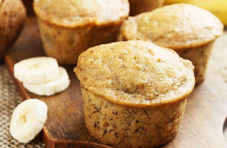 Banana Muffin (with Yogurt) Recipe Breads with all-purpose flour, baking powder, baking soda, salt, bananas, white sugar, nonfat yogurt plain, eggs, vanilla extract