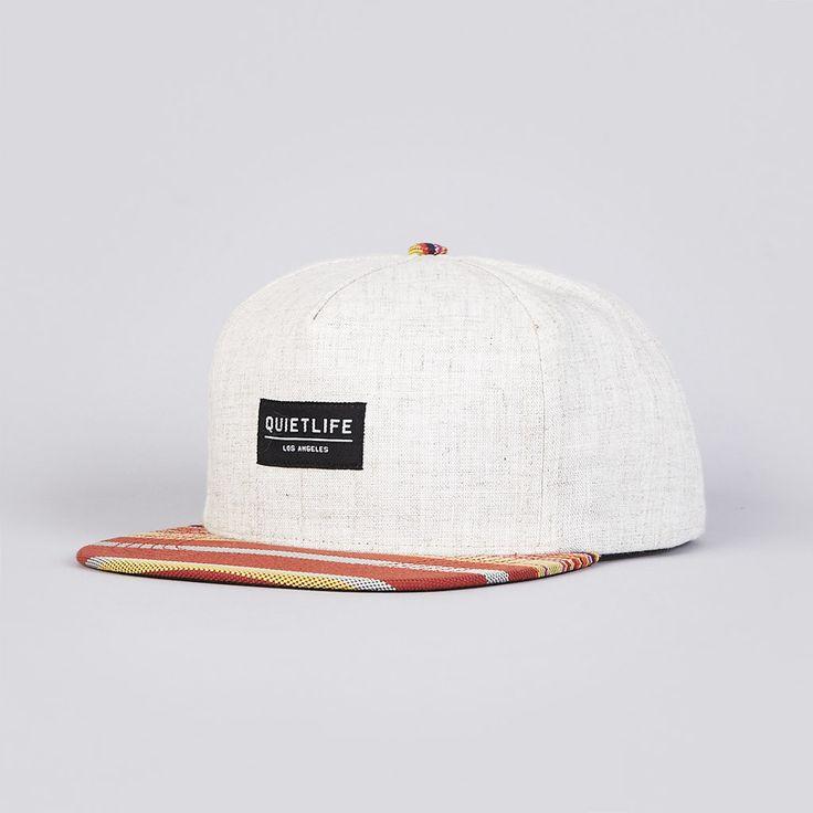 The Quiet Life Linen Snapback Cap Natural / Orange
