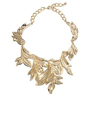 ASOS Statement Leaf Collar Necklace
