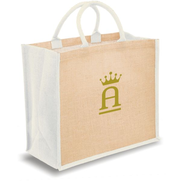 Personalized Bridal Tote Bags with monogram and golden crown