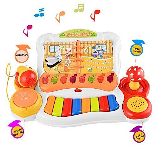 Arshiner Multifunctional E mini Keyboard Piano Music Toy with Microphone & Light. #Arshiner #Multifunctional #mini #Keyboard #Piano #Music #with #Microphone #Light