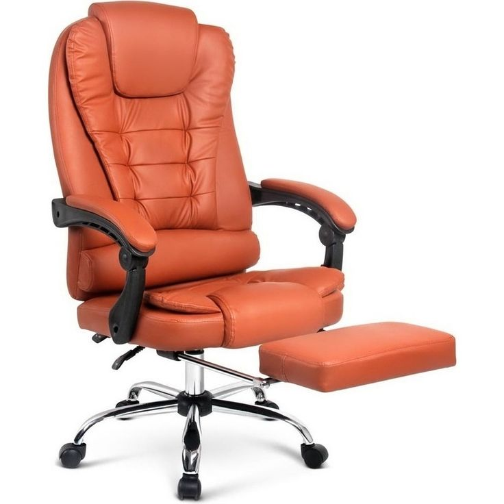 PU Leather Executive Office Chair w/ Footrest Amber | Buy Office Furniture