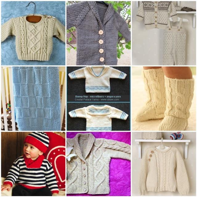 Baby boy knits - all free patterns!