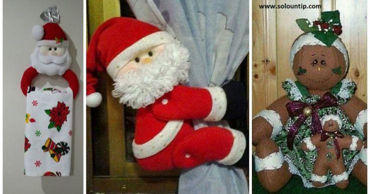 Sujeta cortinas navideño y porta toallas para la cocina
