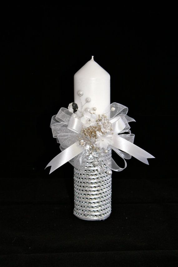 Christening Candle, Ceremony Candle, First Holy Communion Candle, Baptism Accessory, Vela de Primera Comunion