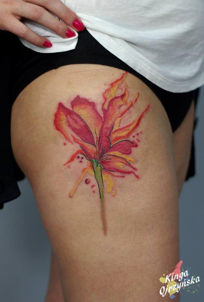 Redberry Tattoo Studio Wrocław #tattoo #inked #ink #studio #wroclaw #warszawa #tatuaz #gdansk #redberry #redberrytattoostudio #katowice #berlin #poland #krakow #kraków #kinga #ojrzynska #kingaoj #kwiat #flower #akwarela #aquarel