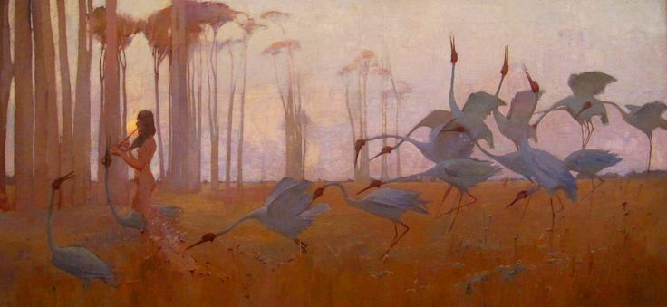 Sydney Long - Spirit of the Plains, 1897, Queensland Art Gallery, Brisbane, gift of William Howard-Smith in memory of his grandfather, Ormond Charles Smith 1940