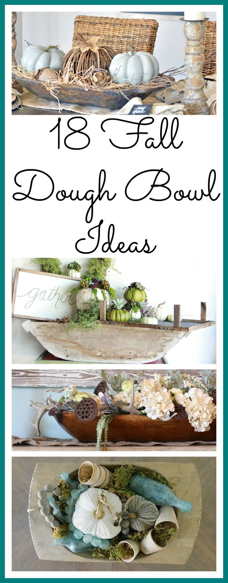 Need some dough bowl decorating inspiration? These 20 dough bowls have been beautifully styled for fall. All different and beautiful in their own way.