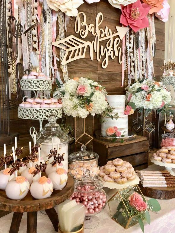 Boho Chic Themed Baby Shower Catchmyparty Com In 2019