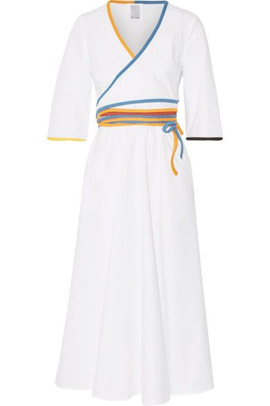 Rosie Assoulin   Cotton-poplin wrap midi dress
