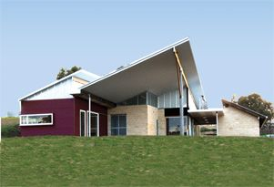 The McAurthur Centre for Sustainable Living with a Ritek Roof System.