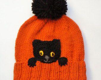 Kids Winter Hat Monkey Hat Pom Pom Hat Knit Hat Knitted by 2mice