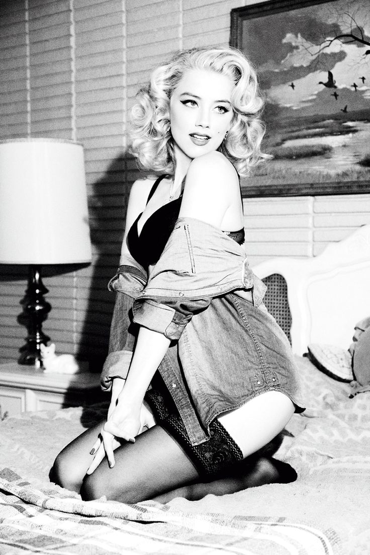 """Amber Heard for Guess. This is my favorite Guess ad. It was a shoot in 2011 that was somewhat based on the movie """"Bus Stop"""" with Marilyn Monroe."""