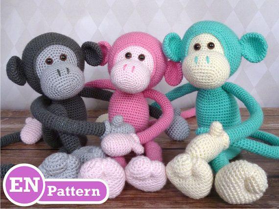 Mike the Monkey - Amigurumi Crochet Pattern (EN, DK & NL)